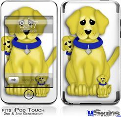 iPod Touch 2G & 3G Skin - Puppy Dogs on White