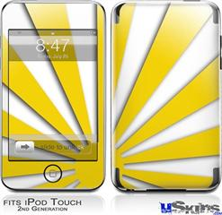 iPod Touch 2G & 3G Skin - Rising Sun Japanese Yellow
