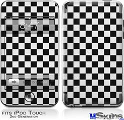 iPod Touch 2G & 3G Skin - Checkered Canvas Black and White