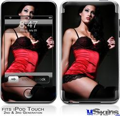 iPod Touch 2G & 3G Skin - Denai Thomson Red and Black Teddy 02