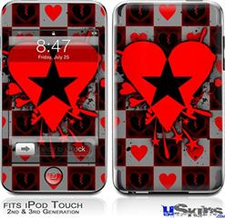iPod Touch 2G & 3G Skin - Emo Star Heart