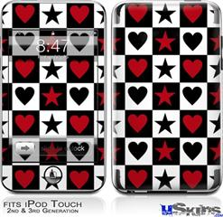 iPod Touch 2G & 3G Skin - Hearts and Stars