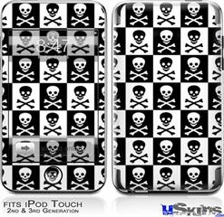 iPod Touch 2G & 3G Skin - Skull Checkerboard