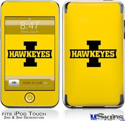 iPod Touch 2G & 3G Skin - Iowa Hawkeyes 02 Black on Gold