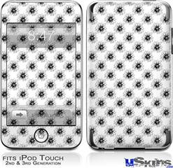 iPod Touch 2G & 3G Skin - Kearas Daisies Black on White