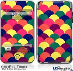 iPod Touch 2G & 3G Skin - Brushed Cirlces Multi Dark
