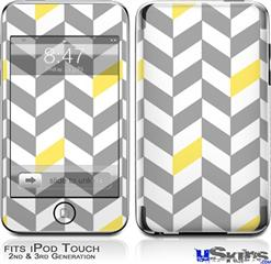 iPod Touch 2G & 3G Skin - Chevrons Gray And Yellow
