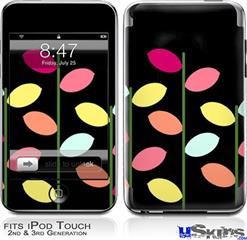 iPod Touch 2G & 3G Skin - Plain Leaves On Black