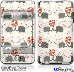 iPod Touch 2G & 3G Skin - Elephant Love