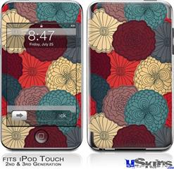 iPod Touch 2G & 3G Skin - Flowers Pattern 04