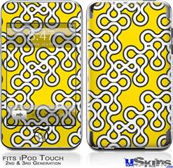 iPod Touch 2G & 3G Skin - Locknodes 03 Yellow