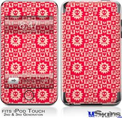 iPod Touch 2G & 3G Skin - Gothic Punk Pattern Red