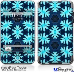 iPod Touch 2G & 3G Skin - Abstract Floral Blue