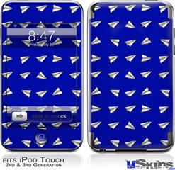 iPod Touch 2G & 3G Skin - Paper Planes Royal Blue