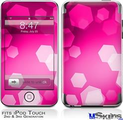 iPod Touch 2G & 3G Skin - Bokeh Hex Hot Pink