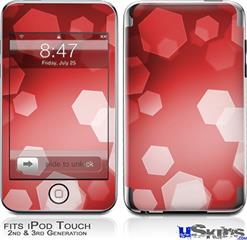 iPod Touch 2G & 3G Skin - Bokeh Hex Red