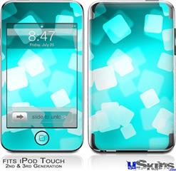 iPod Touch 2G & 3G Skin - Bokeh Squared Neon Teal