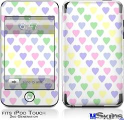 iPod Touch 2G & 3G Skin - Pastel Hearts on White