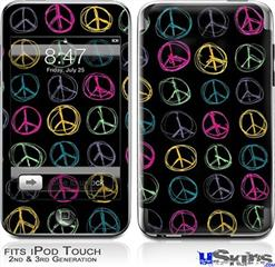 iPod Touch 2G & 3G Skin - Kearas Peace Signs Black