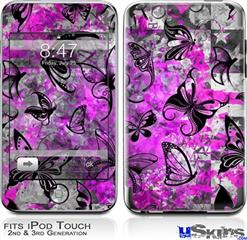 iPod Touch 2G & 3G Skin - Butterfly Graffiti
