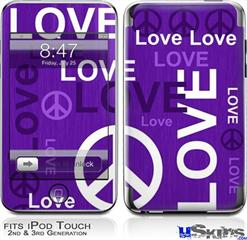 iPod Touch 2G & 3G Skin - Love and Peace Purple