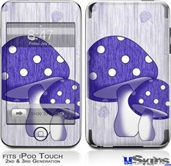 iPod Touch 2G & 3G Skin - Mushrooms Purple